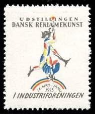 Denmark Poster Stamp - Udstillingen Dansk Reklamekunst (Advertising Art) 1923