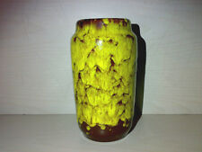 Vase Scheurich 231-15 H: 15 cm WGP West Germany Gelb Braun Yellow 231 Shape LOOK