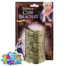 Bronze Cuff Bracelet Jewellery Accessory for Egyptian Roman Fancy Dress Jeweller