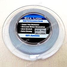 NEW Sea Lion 100% Dyneema Spectra Braid Fishing Line 300M 20lb Grey