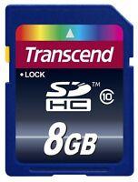 Transcend 8 GB SD SDHC Class 10 Memory Card - TS8GSDHC10