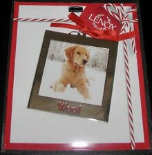 "Lenox Puppy Dog Photo Ornament Frame 2.78"""