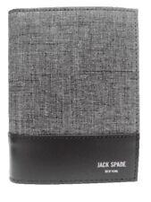 $178 JACK SPADE PASSPORT WALLET TECH OXFORD GRAY NWT
