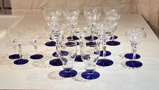 VINTAGE ELEGANCE,Weston Cobalt Blue Foot Starflower Rib Optic Crystal assortmen
