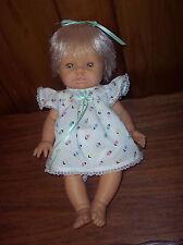 "Vintage 15"" Soft Vinyl Baby Doll Unmarked Life Like Berjusa ? Type Doll VGUC"