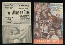 Programa publicitario de CINE doble. ALMA DE DIOS de IQUINO.