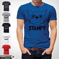 Minecraft Stampy T Shirt Mens Tshirt Blue T-Shirt Mine Craft Cat Large Cotton