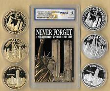 WORLD TRADE CENTER 8th Anniversary NEVER FORGET 9//11 NY Quarter US Coin WTC