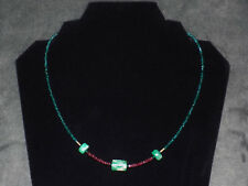 Pre-Columbian Emerald Necklace with Faceted Rubies and Gold Beads