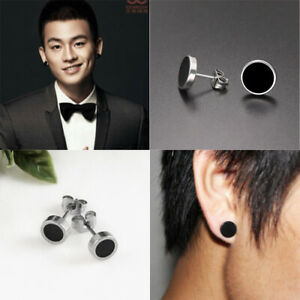 Fashion Top Quality Fake Black Ear Stretcher Plugs Cheater Mens Earrings Gift
