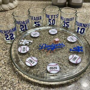 Dodgers 2020 World Series Champions Official 16 oz Pint Beer Glass L.A