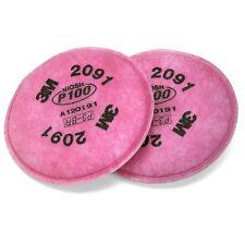 3M 2091 P100 FILTER FOR RESPIRATOR 6200, 6300, 7502 6800,1 Pair