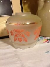 Pretty Vintage Frosted Glass Pink Motiff light/lamp Shade
