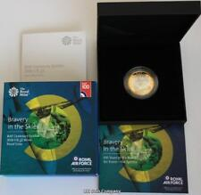 2018 UK £2 Silver Proof Coin RAF Spitfire Issued By The Royal Mint