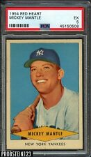 "1954 Red Heart Mickey Mantle New York Yankees HOF PSA 5 EX "" LOOKS MINT """