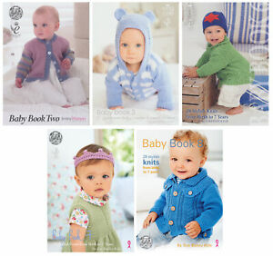 King Cole Baby Knitting Books Double Knit Clothing Accessories Pattern Booklets
