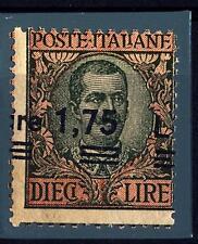 ITALIA - Regno - 1924 - 1,75 lire su 10 lire oliva e rosa - varietà
