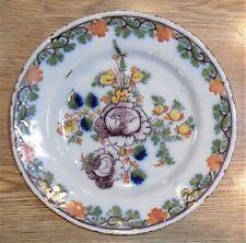 More details for lambeth mid 18th century tin glazed earthenware delft plate 22.5cm diameter