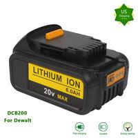 NEW 6.0Ah Li-ion 20VOLT Battery for DeWalt DCB200 DCB205 DCB204-2 DCB204 DCB206
