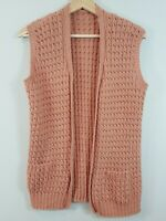HANDKNITTED | Womens Handmade Knit Vest / Cardigan [ Size S or AU 10 / US 6 ]