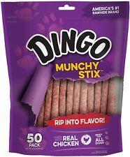 Dingo Munchy Stix Dog Treat Sticks Rawhide Chews Pet Food with Real Chicken 50Pk