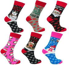 Waitrose Xmas Men/'s Navy Snowman Socks in a Bag Each Price Marked £5 Pack 0f 6