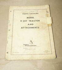 1969 Allis-Chalmers B 207 Tractor & Attachments Parts Catalog Manual P/N PC-7003