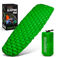 Outdoorsman Lab Inflatable Sleeping Pad Ultralight Compact Inflating Pads Green