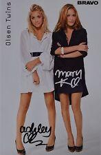 Olsen Twins-autografiada mapa-Autograph autógrafo recortes Mary-Kate Ashley