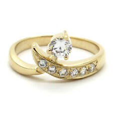 14K Yellow Gold Finish Adjustable Solitaire Toe Ring with Channel Set Diamond