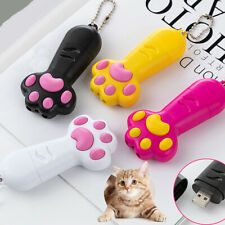 3 In 1 USB Rechargeable Cat Paw LED Laser Pointer Pet Interactive Training Tool