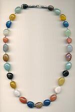 Mezclado Piedra cinco guisantes en una vaina Collar y 5 Dijes Corazón inicial