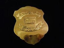Badge: Railroad Police, Lackawanna Railroad, brass, Lawman, Old West