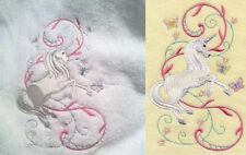 UNICORN/WINGED HORSES SET OF 2 HAND TOWELS EMBROIDERED