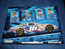 2009 GREG BIFFLE + 3 OTHERS #16 CITI NASCAR POSTCARD