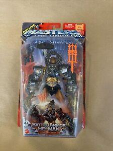 200x MOTU Masters Of The Universe Deluxe Battle Armor He-Man 2003 Mattel NIP