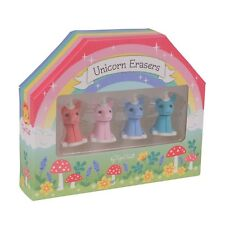Tiger Tribe Unicorn Erasers Set of Four, Party Favours, School Children Gifts