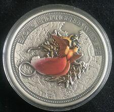 2012 Fiji 20 Dollars Exotic Endangered Wildlife Paradise Bird 2 oz. Silver Coin