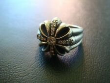 Rare CHROME HEARTS Diamond mini PYRAMID CROSS RING