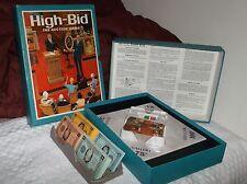 High Bid The Auction Game 3M Bookshelf Game 1965 Vintage Complete