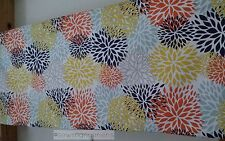 Blue Orange Yellow Valance Window Treatments Curtain Valance Floral Window Shade