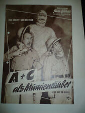 ABBOTT AND COSTELLO MEET THE MUMMY, orig German Film program [Abbott + Costello]