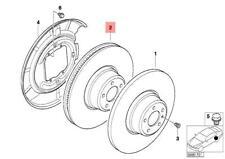 Genuine BMW Rear Brake Disc Set Ventilated E46 3 Series 34216864056