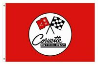 CORVETTE STING RAY TAILGATING FLAG 5FT X 3FT QUALITY FREE DELIVERY - AMERICANA