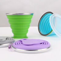 Silicone Collapsible Folding Cup Bowl Set Telescopic for Outdoor Travel Camping