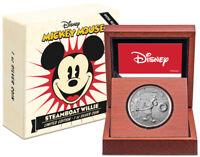 2020 Niue Disney Steamboat Willie 1 oz Silver Proof $2 GEM Proof OGP