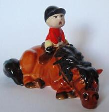BESWICK NORMAN THELWELL FIGURINE KICK START BOY ON A BAY HORSE MODEL 2769B