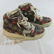 Givenchy Plaid Tyson Red Calfskin Star Studded Strap Sneaker Shoes Sz 45 12