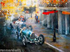 1929 Monaco Grand Prix Automobile Race Car Advertisement Vintage Poster