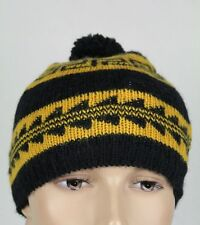 Ralph Lauren Womens Black Gold Wool Beanie Hat NWT
